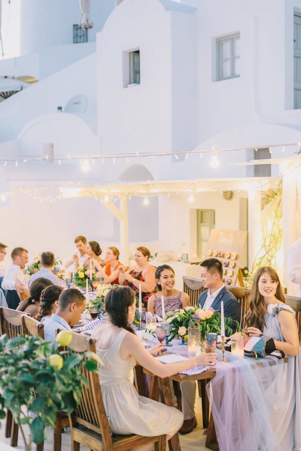 Santorini wedding dinner