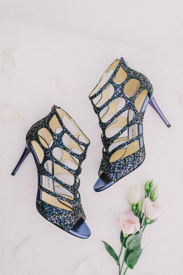 Jimmy Chop  blue wedding shoes