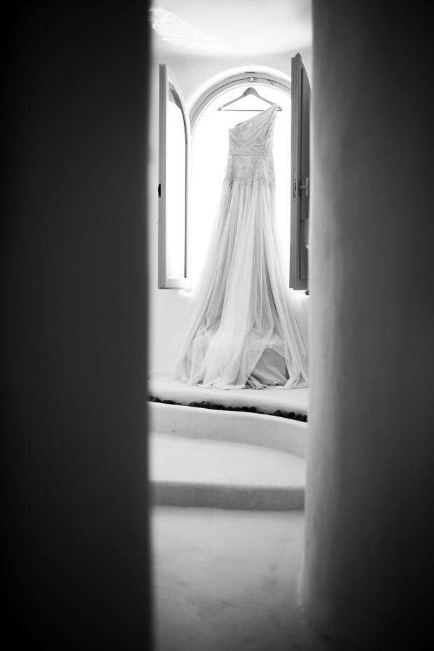 Wedding gown- Santorini wedding