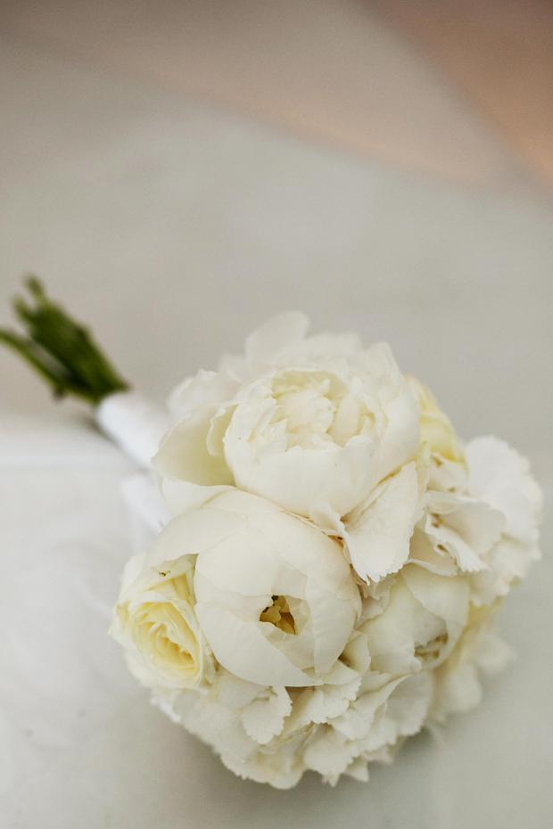 Bridal bouquet- white peonies