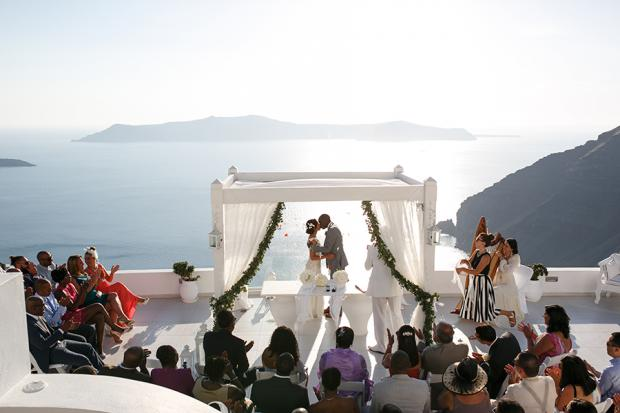 Wedding by Tie the Knot in Santorini