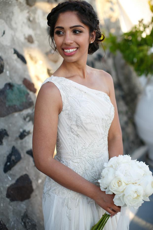 Boho Santorini bride