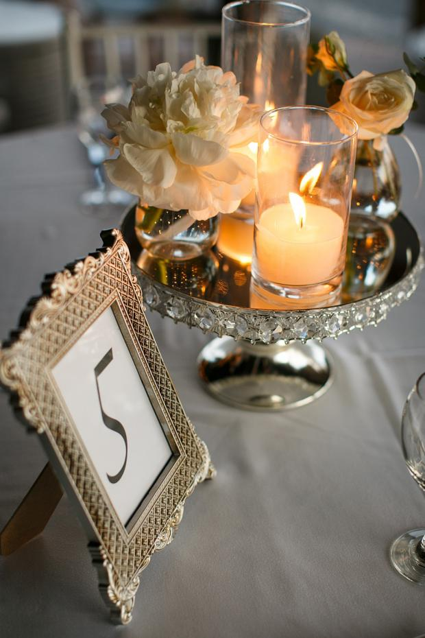 Silver Frame table number