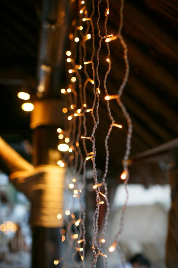 Wedding reception  fairy lights
