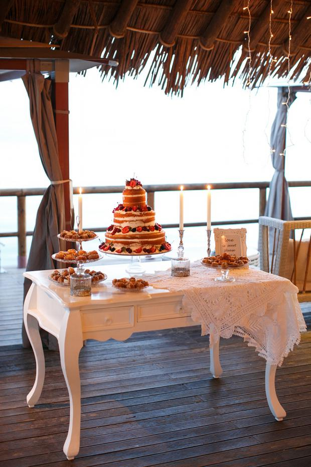 Dessert Table- Destination wedding in Santorini