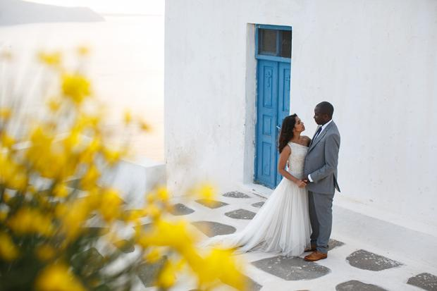Romantic Greek island wedding