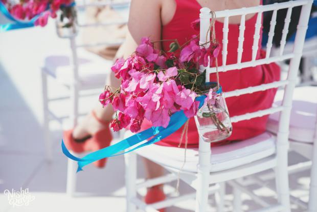Santorini wedding -wedding aisle