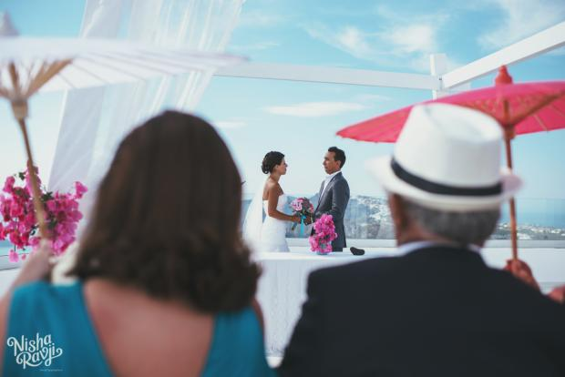 Wedding ceremony in Santorini