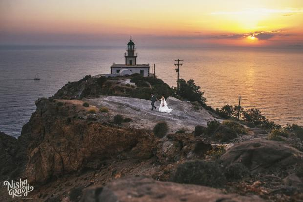 Wedding in Santorini- Lighthouse