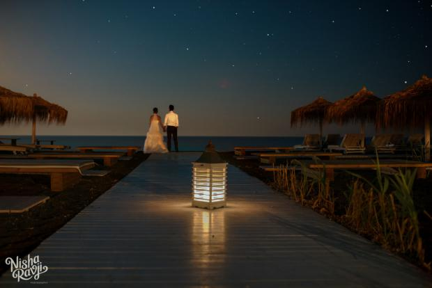 Santorini beach wedding
