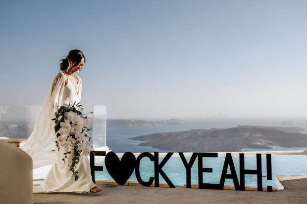 Edgy wedding sign