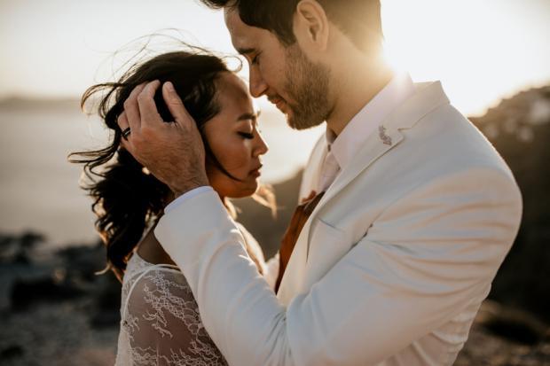 Modern and edgy wedding in Greece- Santorini