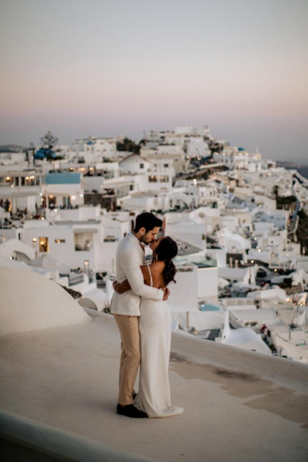 Modern and edgy wedding in Greece- Santorini