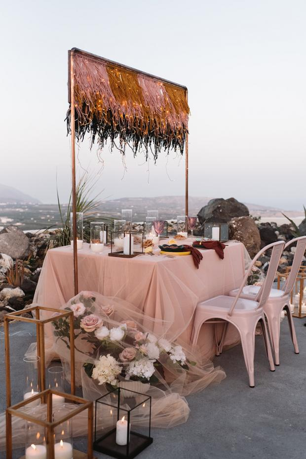 Romantic elopement dinner - Greece