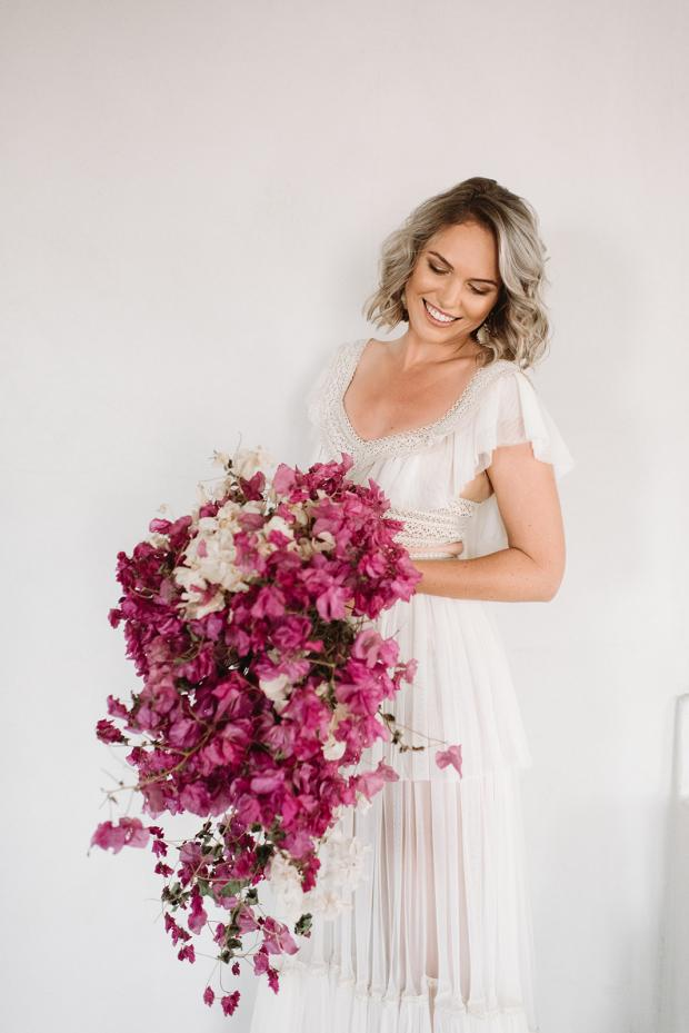 Dried bougainvillea bouquet