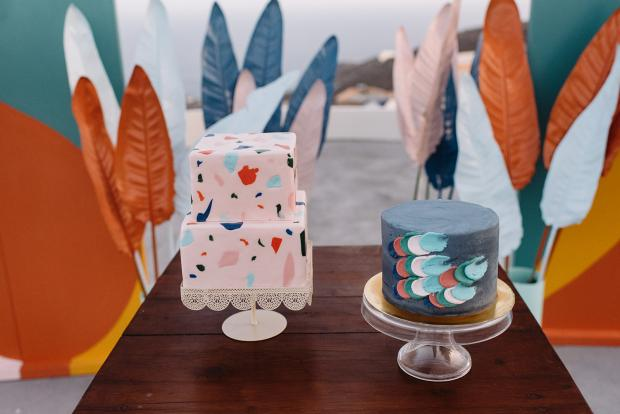 abstract art wedding cakes