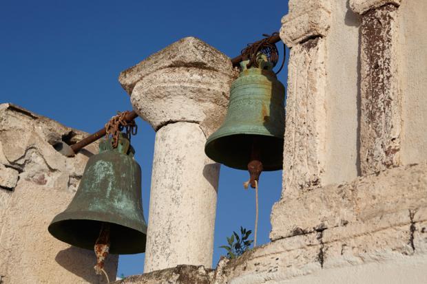 Santorini wedding-bell tower
