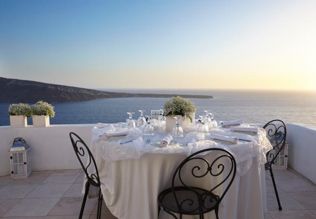 Santorini wedding reception