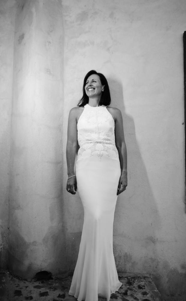 Beautiful bride in elegant dress