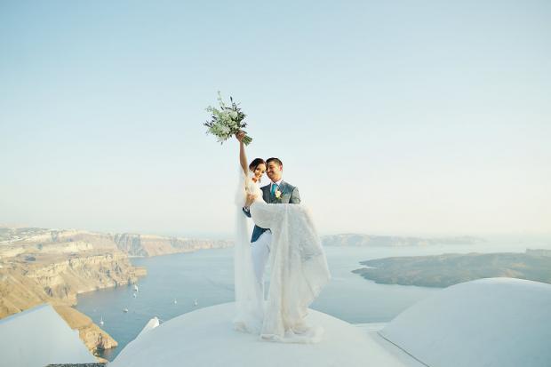 Destination wedding in Santorini, Greece