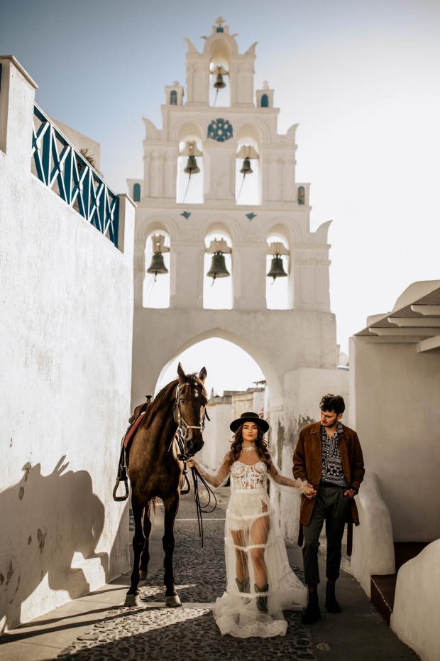 Fashion forward destination elopement in Europe