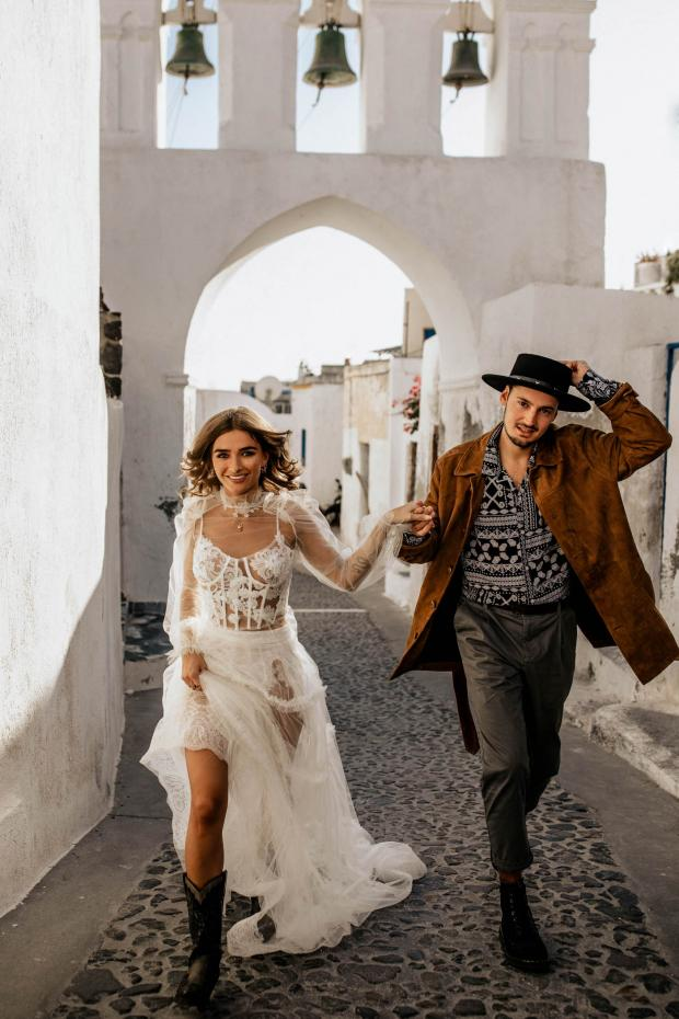 Fashion forward destination elopement in Europe