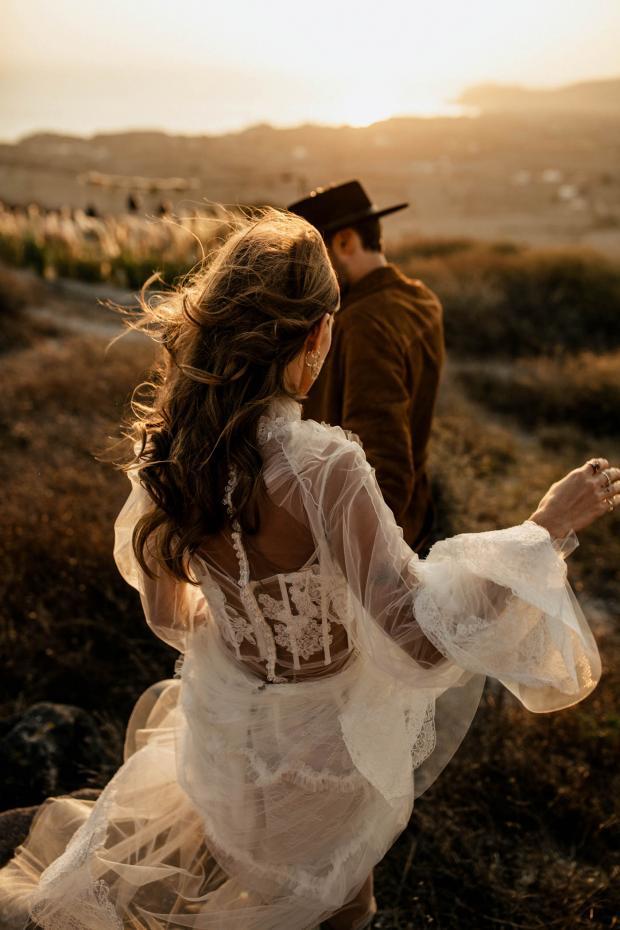 Rock bohemian destination wedding