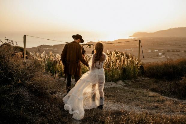 Rock bohemian destination wedding