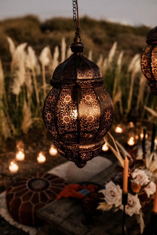 Bohemian- Morocco inspired wedding dinner