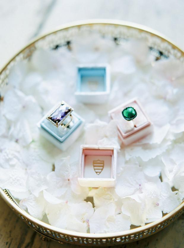 Wedding rings-emerald ring