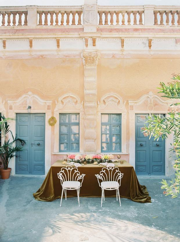 Belle époque inspired wedding in Greece
