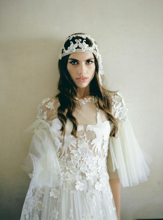 Bohemian wedding head piece