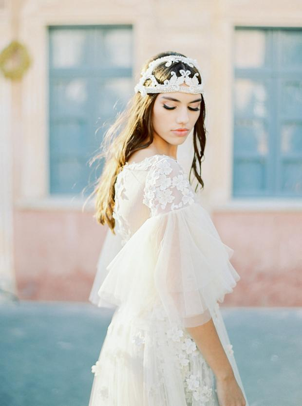 Bohemian wedding head piece