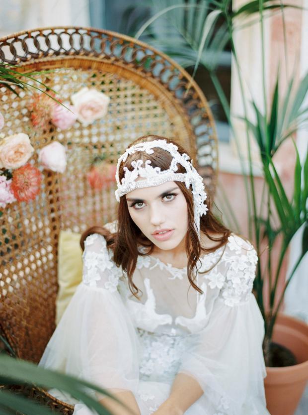 Bohemian bride in Greece