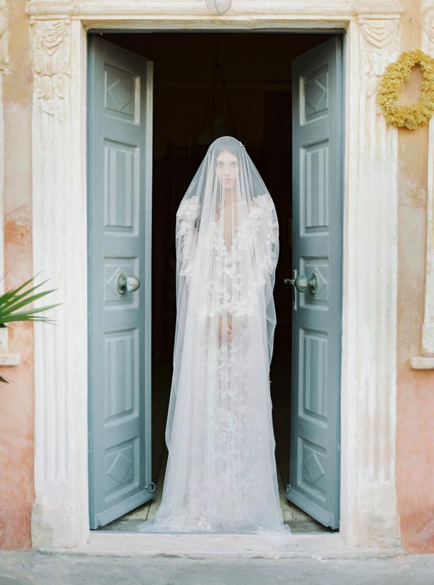 Belle Epoque garden  wedding at an old mansion in Greece