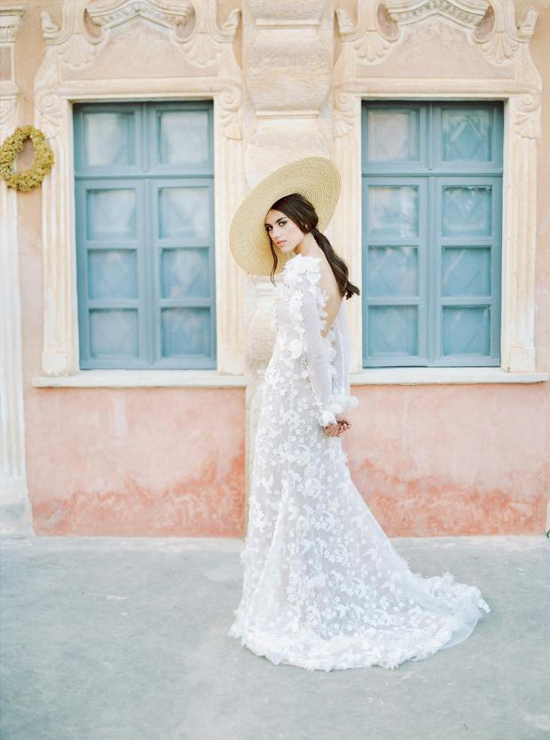 Belle Epoque garden  wedding at an old mansion in Greece