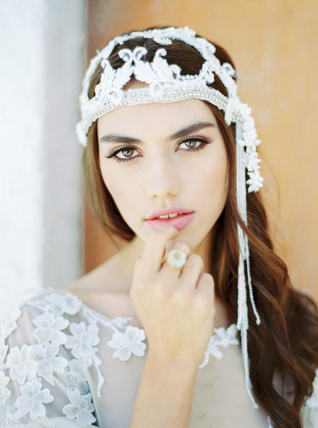 Bridal hair and make up - boho bride