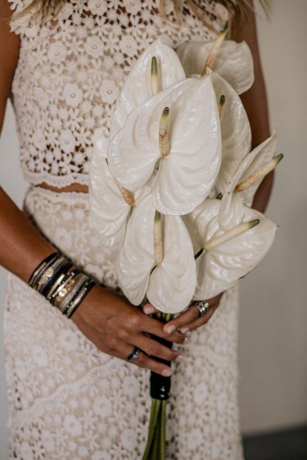 White anthurium bouquet