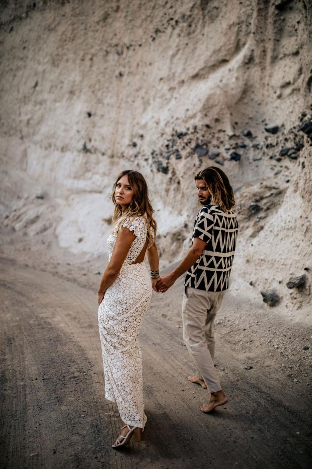 Beach wedding - Lace wedding dress