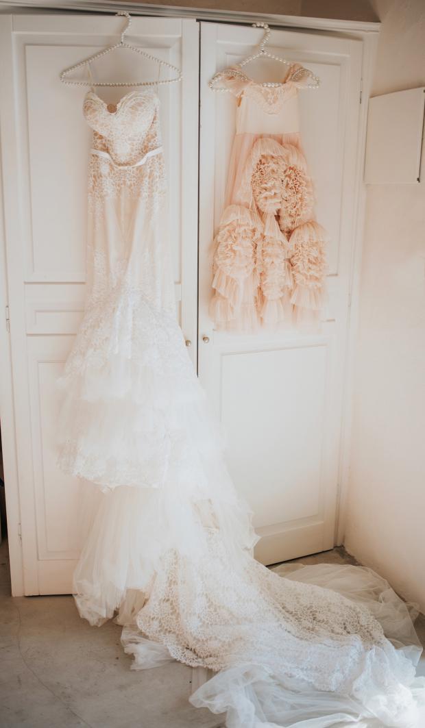 Wedding and flower girl dress