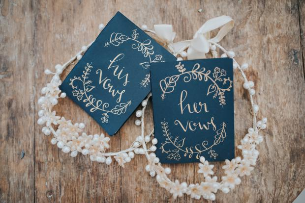 Wedding vows booklets
