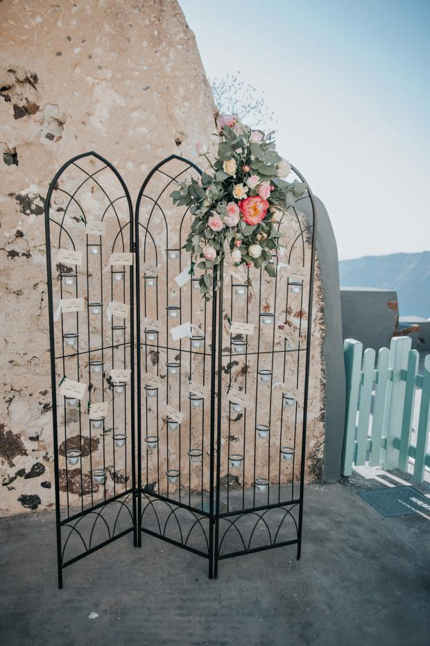 Seating chart -Santorini wedding