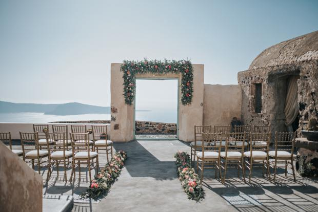 Wedding ceremony set up- wedding in Greece