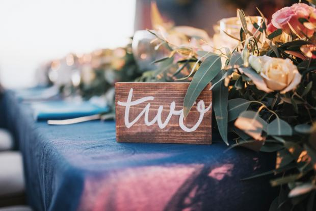Wooden chirography table numbers