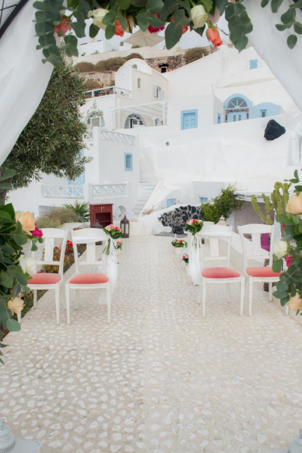 Wedding in Santorini- wedding ceremony