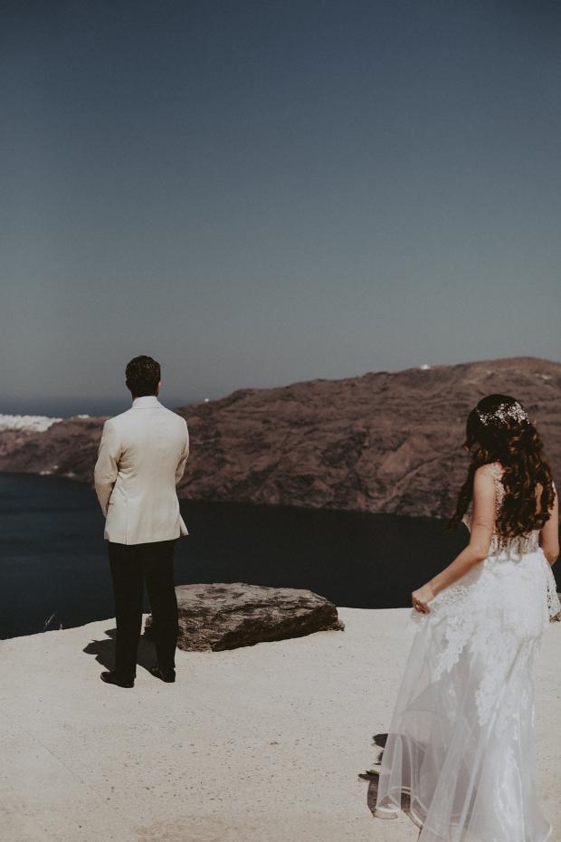 Wedding in  Santorini, Greece- First look