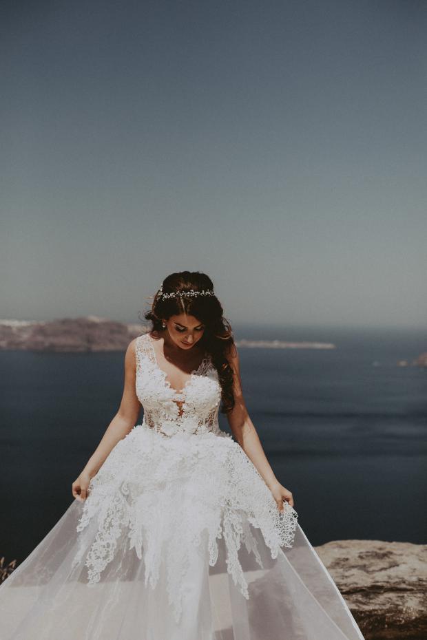 Gorgeous wedding  dress - Santorini wedding