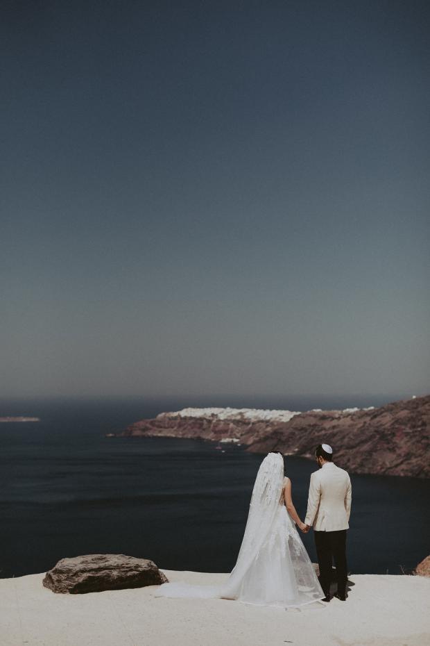 Glamorous wedding in Santorini- Greece