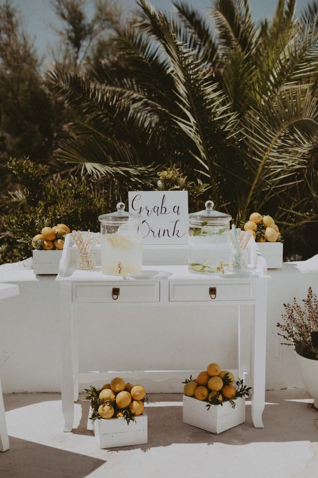 Lemonade station- Wedding in Greece