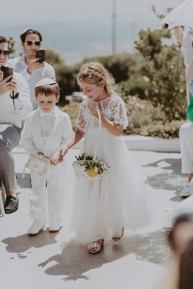 Flower girl & page boy- Wedging in Greece